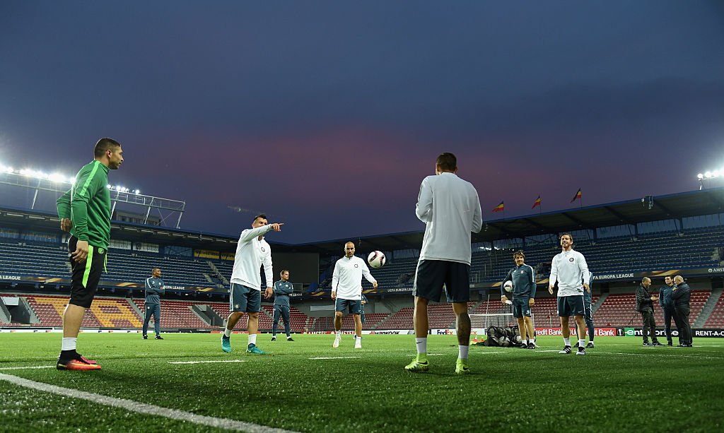 PRAGUE, CZECH REPUBLIC - SEPTEMBER 28:  General view during the FC Internazionale training session at Generali Stadium on September 28, 2016 in Prague, Czech Republic.  (Photo by Claudio Villa - Inter/Inter via Getty Images)