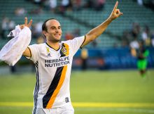 CARSON, CA - SEPTEMBER 11:  Landon Donovan #26 of Los Angeles Galaxy following the Los Angeles Galaxy's MLS match against Orlando City SC at the StubHub Center on September 11, 2016 in Carson, California.  The Los Angeles Galaxy won the match 4-2.  (Photo by Shaun Clark/Getty Images)