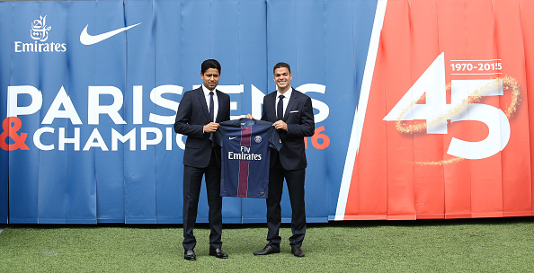 New Coach Of Paris Saint-Germain Unai Emery And Hatem Ben Arfa Give A Press Conference In Paris