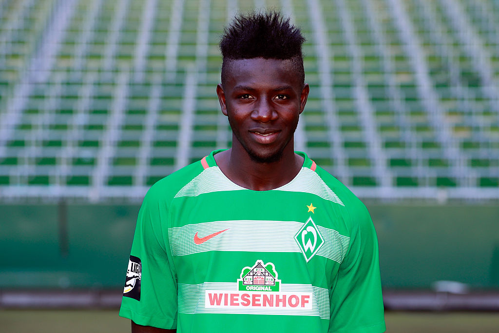 BREMEN, BREMEN - JULY 20:  Ousman Manneh poses during the offical team presentation of Werder Bremen II  on July 20, 2016 in Bremen, Germany.  (Photo by Martin Stoever/Bongarts/Getty Images)