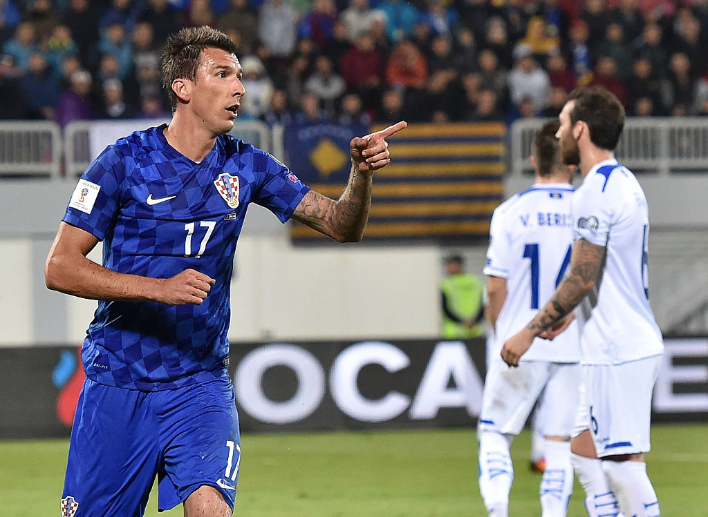 during the FIFA 2018 World Cup Qualifier between Kosovo and Croatia at Loro Borici Stadium on October 6, 2016 in Shkoder, .