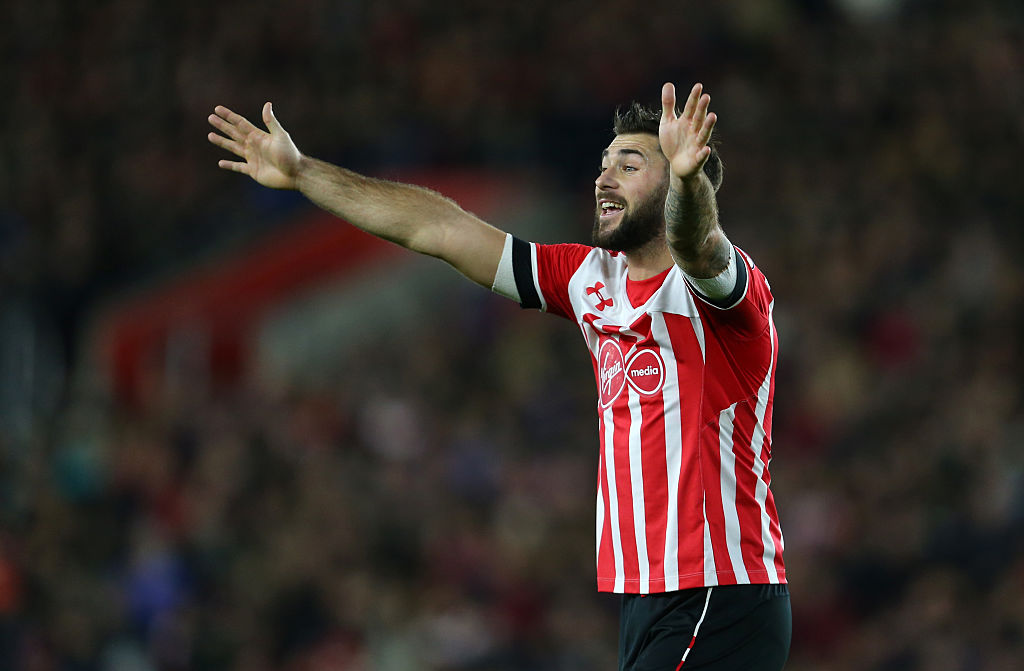 SOUTHAMPTON, ENGLAND - NOVEMBER 27: Charlie Austin of Southampton during the Premier League match between Southampton and Everton at St Mary's Stadium on November 27, 2016 in Southampton, England. (Photo by Catherine Ivill - AMA/Getty Images)