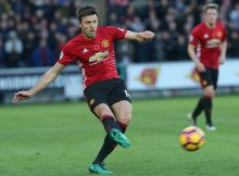 SWANSEA, WALES - NOVEMBER 06:  Michael Carrick of Manchester United in action during the Premier League match between Swansea City and Manchester United at the Liberty Stadium on November 6, 2016 in Swansea, Wales.  (Photo by John Peters/Man Utd via Getty Images)