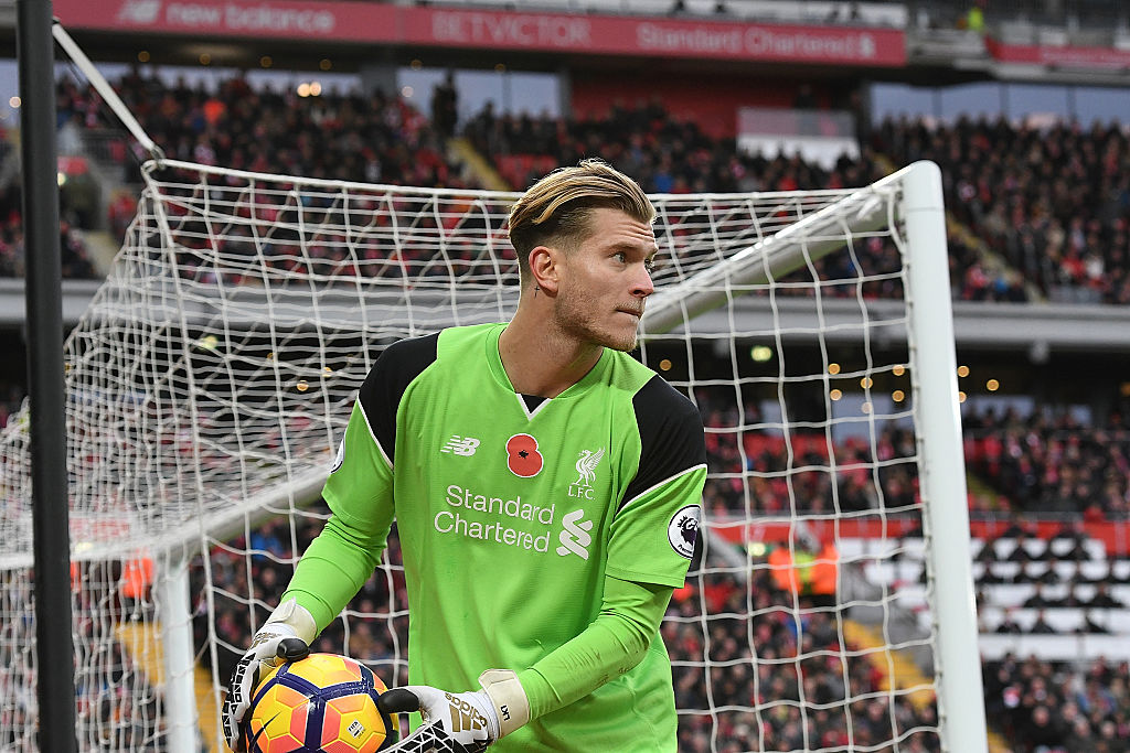 LIVERPOOL, ENGLAND - NOVEMBER 06:  (THE SUN OUT, THE SUN ON SUNDAY OUT) Loris Karius of Liverpool during the Premier League match between Liverpool and Watford at Anfield on November 6, 2016 in Liverpool, England.  (Photo by Nick Taylor/Liverpool FC via Getty Images)