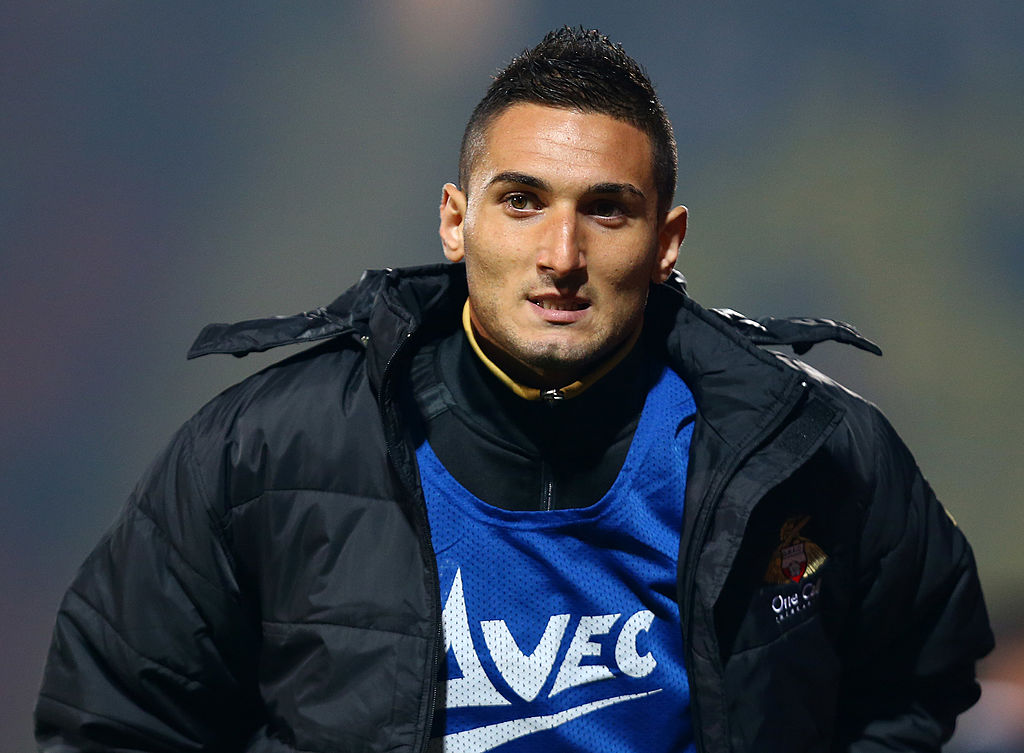 WATFORD, ENGLAND - SEPTEMBER 17:   Federico Macheda of Doncaster Rovers warms up during the Sky Bet Championship match between Watford and Doncaster Rovers at Vicarage Road on September 17, 2013 in Watford, England.  (Photo by Jan Kruger/Getty Images)