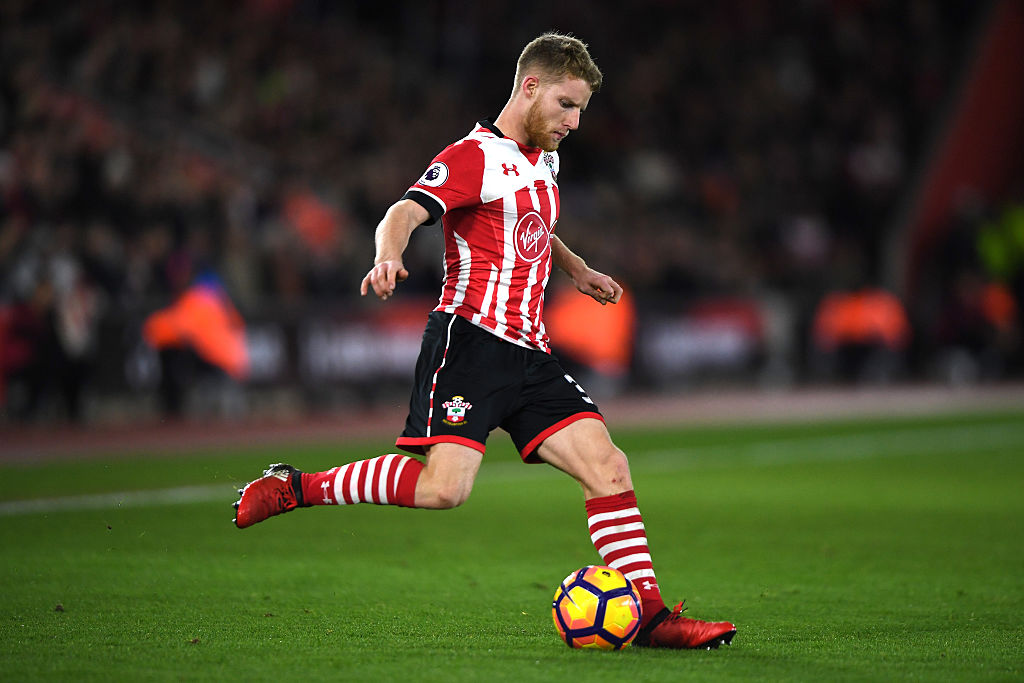 during the Premier League match between Southampton and Everton at St Mary's Stadium on November 27, 2016 in Southampton, England.