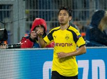 DORTMUND, GERMANY - NOVEMBER 22: Shinji Kagawa of Borussia Dortmund celebrates after scoring during the UEFA Champions League First Qualifying Round 2nd Leg match between Borussia Dortmund and Legia Warschau at Signal Iduna Park on November 22, 2016 in Dortmund, Germany. (Photo by TF-Images/Getty Images)