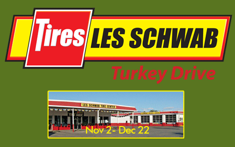 Les Schwab Tires Turkey Drive November 2 – December 22