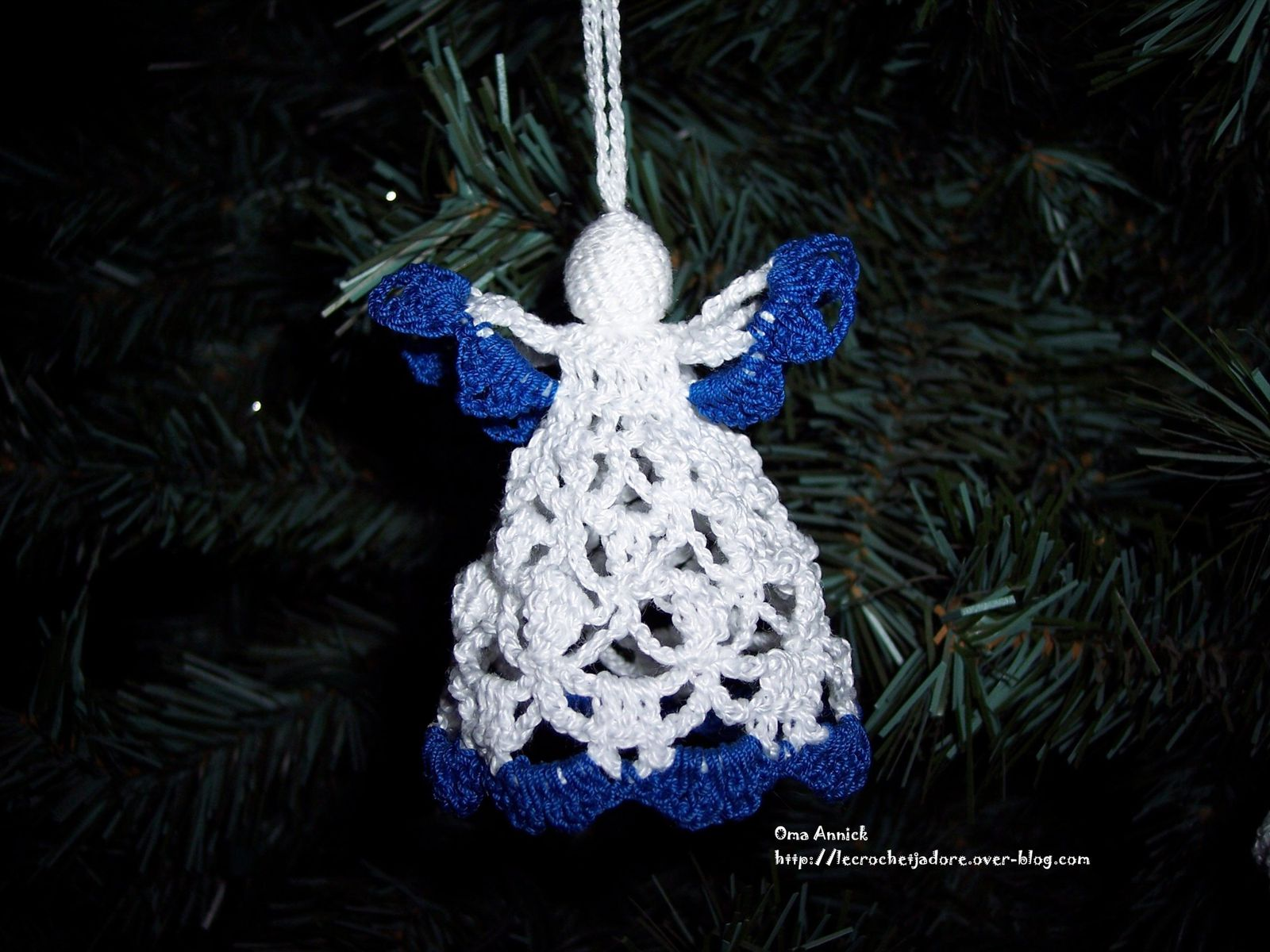 Deco Sapin Bleu Decoration Crochet Le Blog De Oma Annick