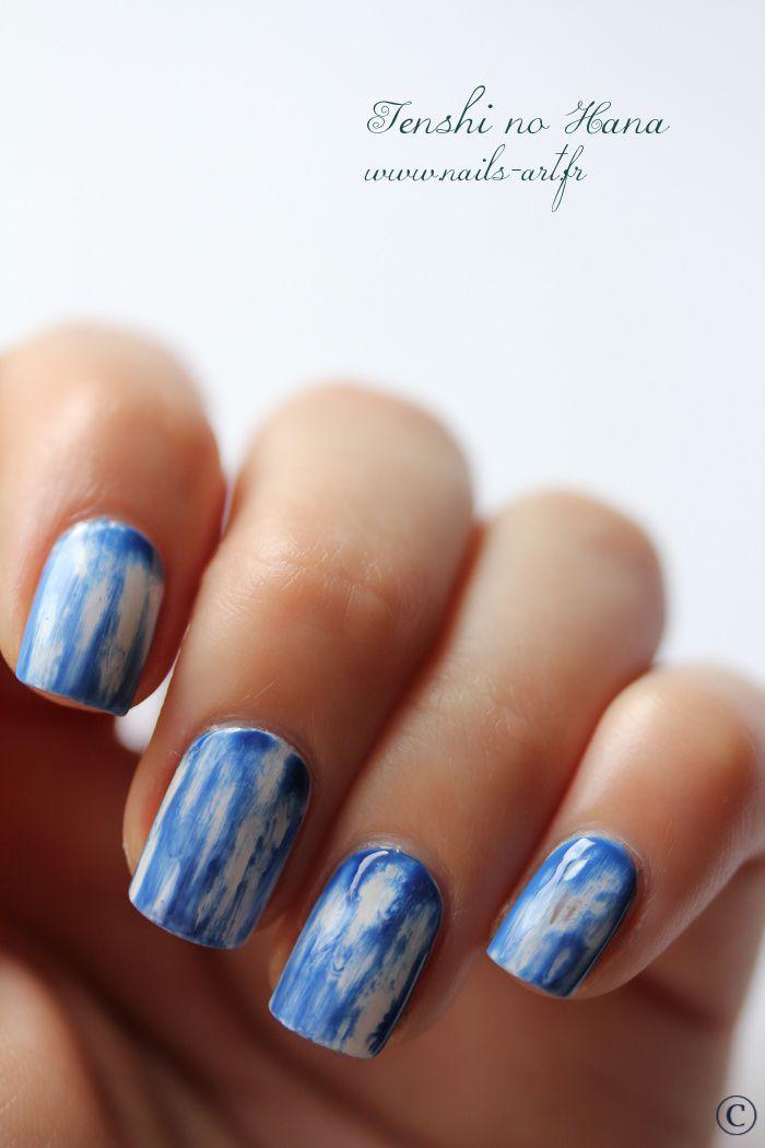 Denim Nails Nature Nails Nail Art By Tenshi No Hana