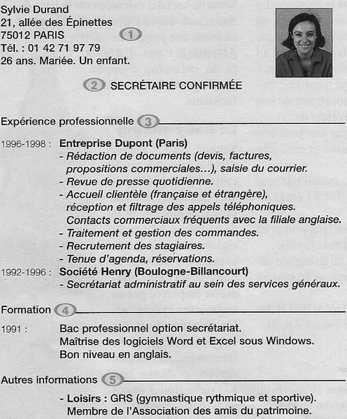 principale competence pour cv