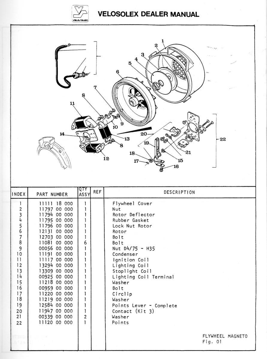velosolex 3800 wiring diagram