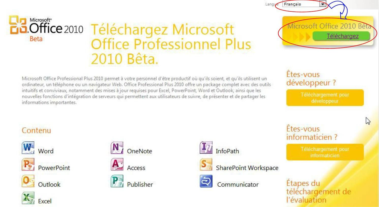 Office 2010 Gratuit A Telecharger Télécharger Office Professionnel Plus 2010 Fr Clé D