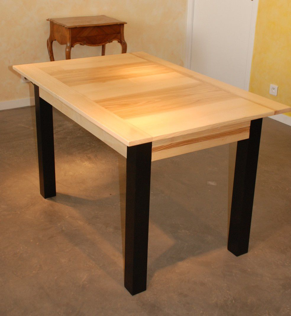 Pied De Table Contemporain Table à Manger Contemporaine En Frêne à Rallonges Atelier