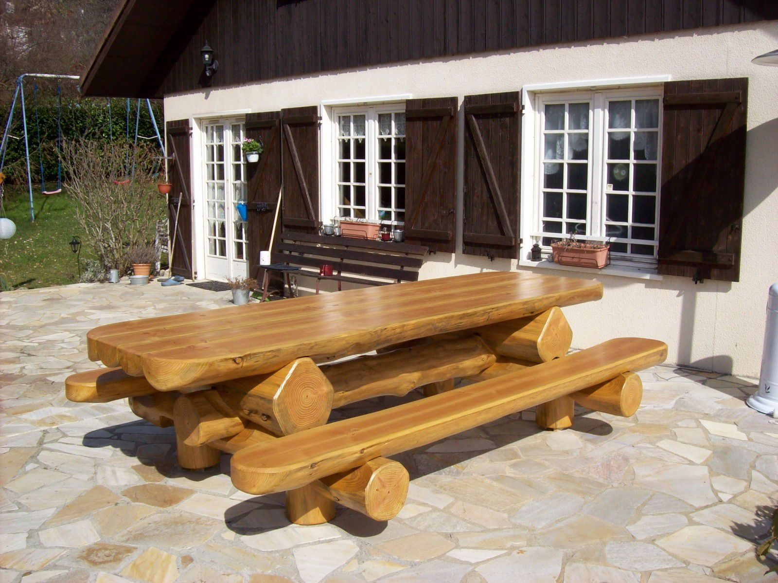 Table Jardin Bois Massif | Table En Bois Massif Design Brin D 39ouest