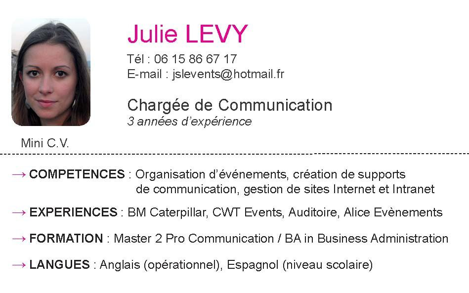 cv attache commercial en anglais