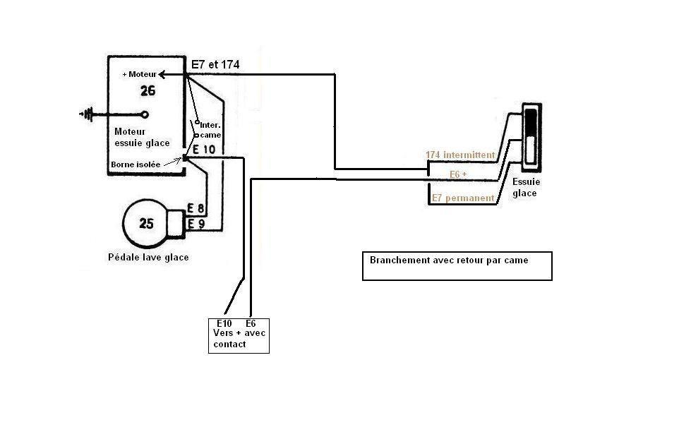 alpine schema cablage moteur lave