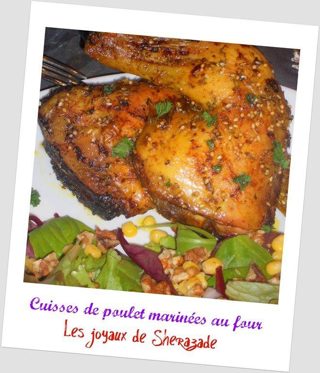 Cuisses de poulet marin es au four - Cuisse de poulet au four moutarde ...