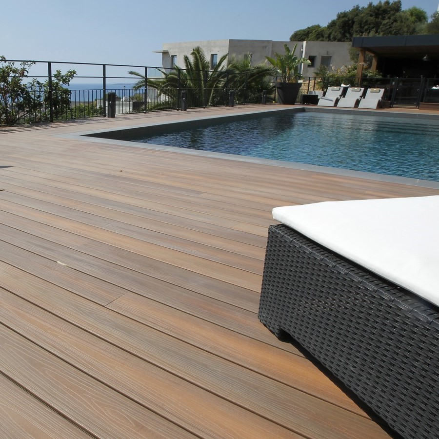 Cloture En Lame De Terrasse Lame Bois Composite Fiberon Xtreme Advantage 20x127mm Idea Bois