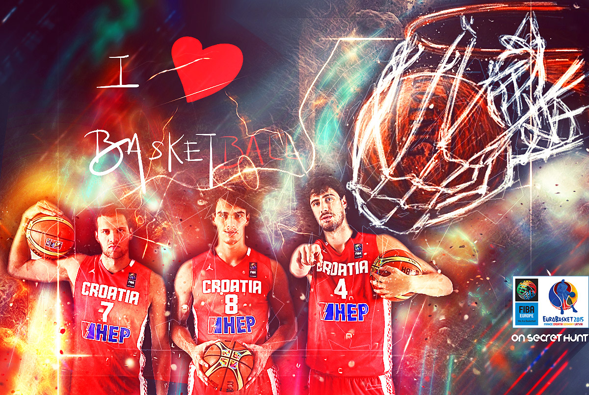 Euro Dezigns I Love Basketball Eurobasket 2015 Croatia