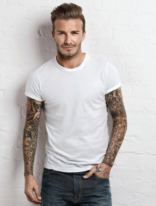 David Beckham Sleeves Tatoo