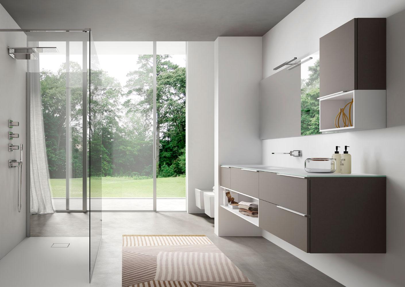 Bagni Moderni Verde Acqua : Mobile bagno verde acqua 23 idee per arredare un bagno lungo e stretto
