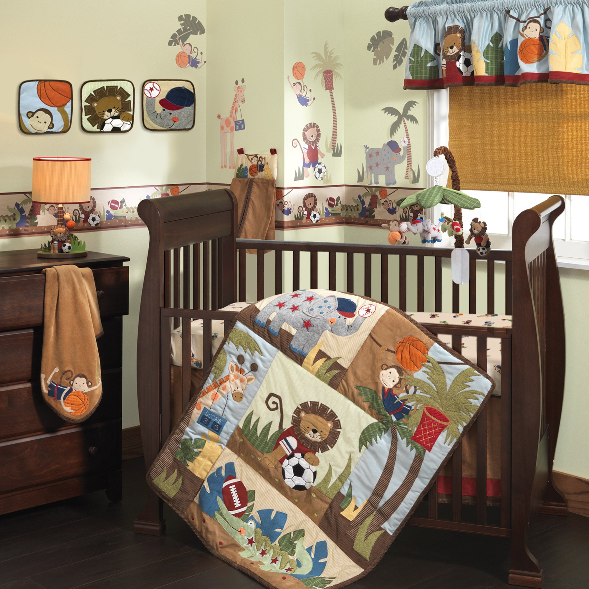Toddler Stroller Jogging Lambs Ivy Team Safari 9 Piece Crib Bedding Set Ideal Baby