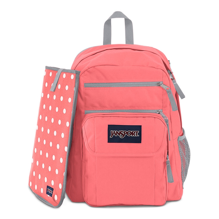 Toddler Stroller Jogging Jansport Digital Student Backpack Coral Sparkle White