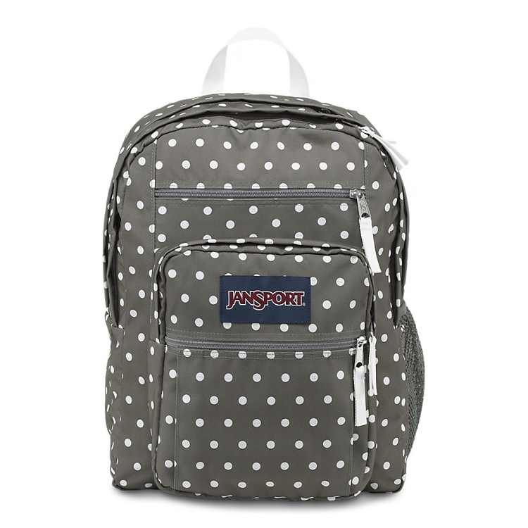 Toddler Stroller Jogging Jansport Big Student Backpack Shady Grey White Dots