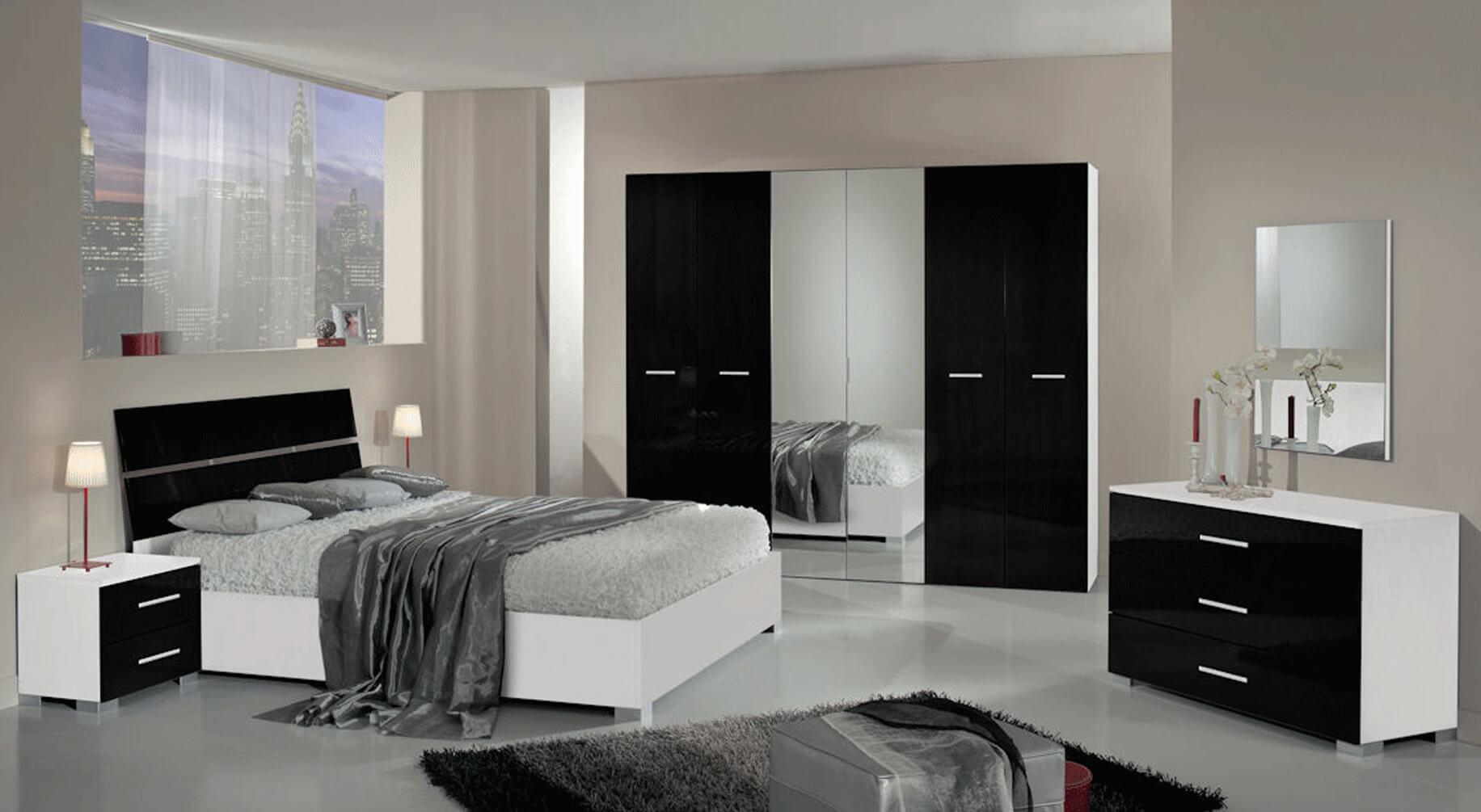 Chambre Blanc Et Noir | Lit Adulte Design En Pu Noir Et Blanc Noumea ...