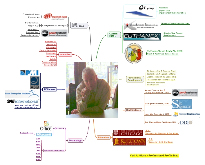 exemple cv en mind mapping