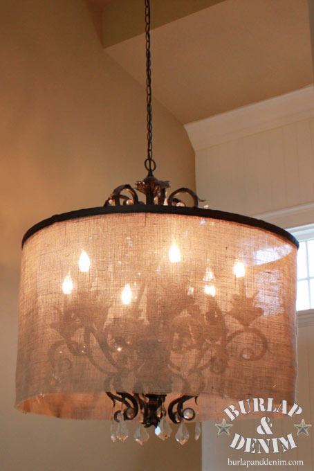 Chandelier Lamp How To Make Burlap Lamp Shade : 18 Diy Tutorials