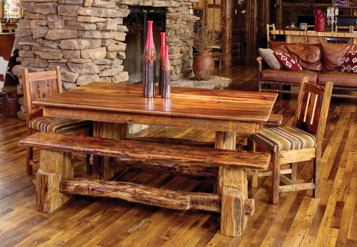 Balcony Bench Rustic Dining Room Furniture Bringing Cozy Nature