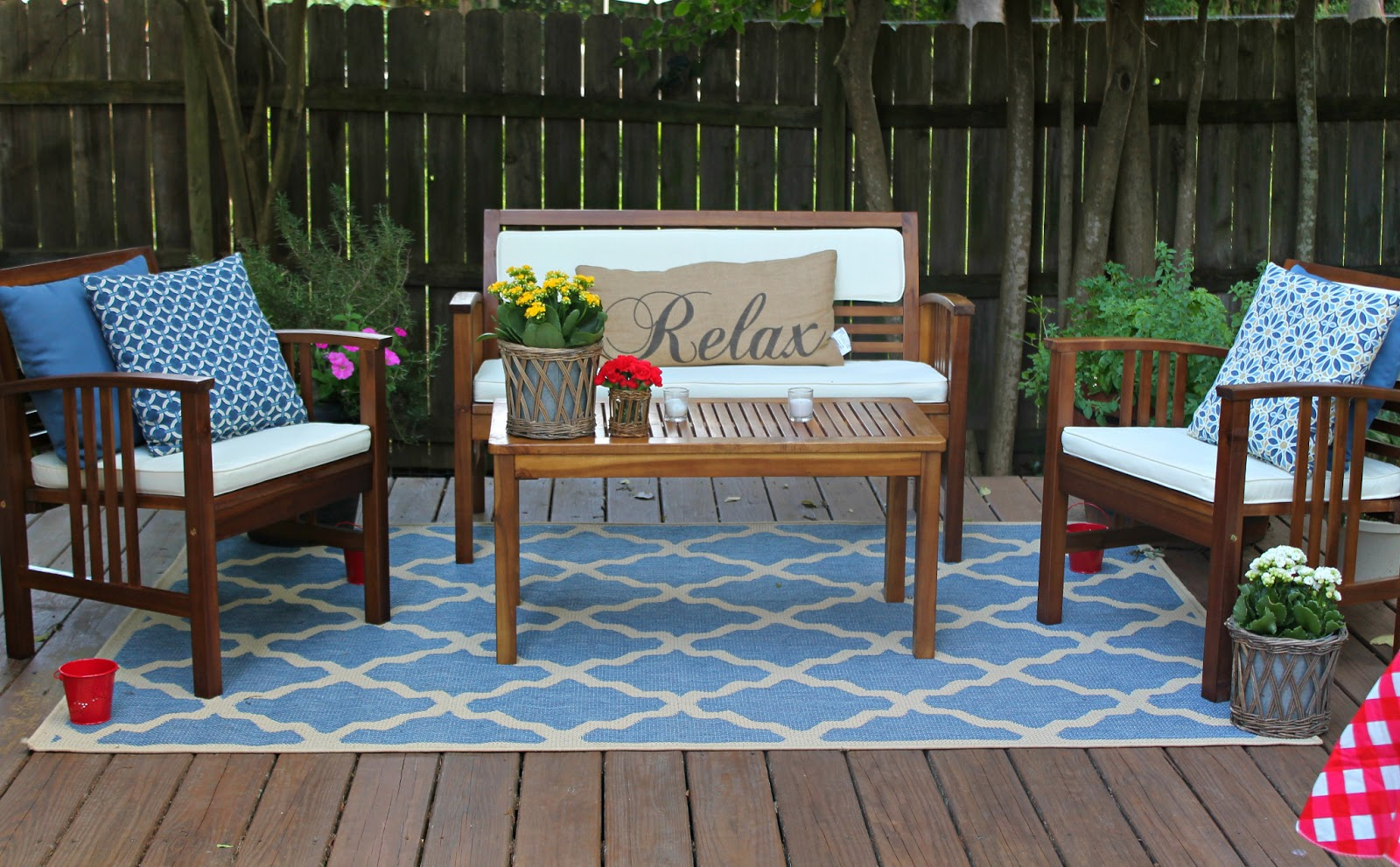 Deck Furniture Ideas Fresh Blue Deck Furniture Design Ideas For Relaxing Outdoor Rooms
