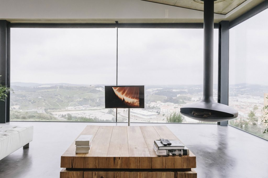 Living Room Color Schemes Eco-friendly Large Glass Windows Offering Effective Energy