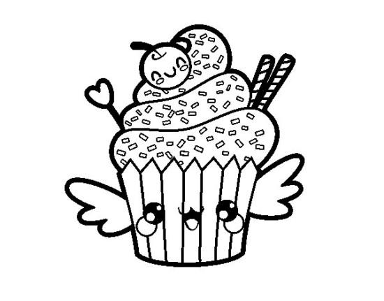 Cupcakes Printable Coloring Pages - Eskayalitim