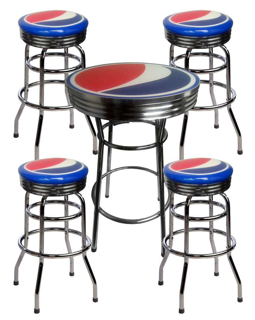 Table And Bar Stools Pepsi Bar Table And 4 Stools