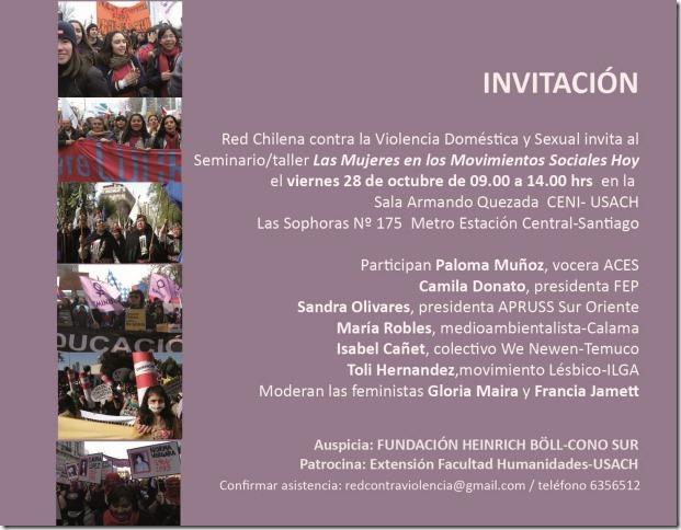Seminario \u201cLas Mujeres en los Movimientos Sociales Hoy
