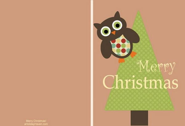 40+ Free Printable Christmas Cards 2017