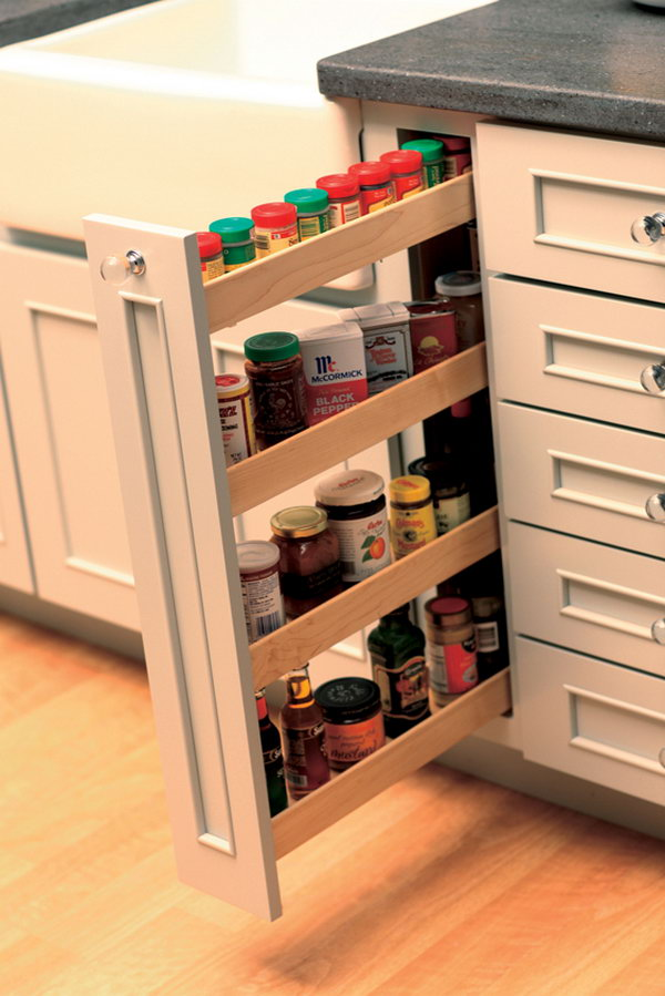 space easily fit kitchen island wall cabinets diy clever storage ideas bathroom organization creative