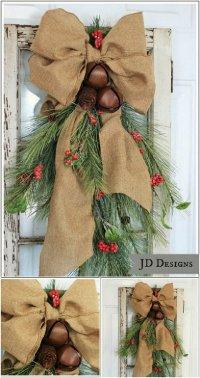 25 DIY Rustic Christmas Decoration Ideas & Tutorials 2017