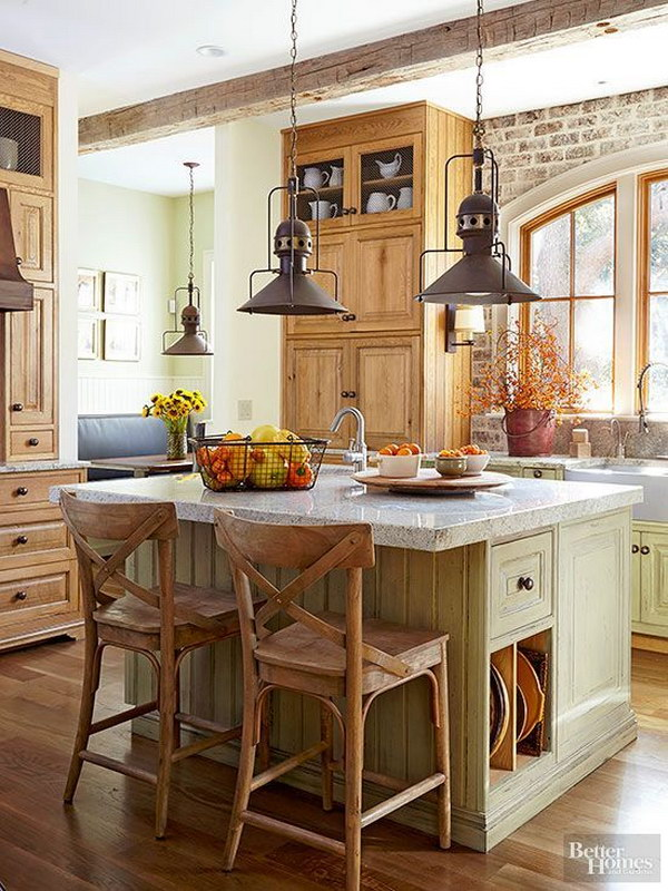 30+ Awesome Kitchen Lighting Ideas 2017 - rustic kitchen lighting ideas