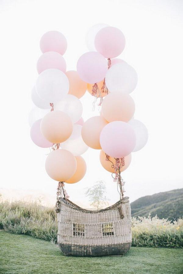 Cloud and raindrop balloon decoration