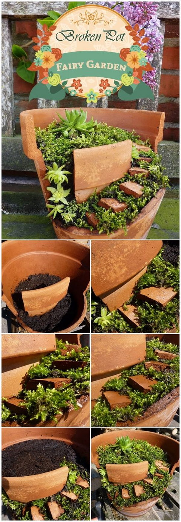 Artistic Diy Fairy Garden From Broken Clay Pot Diy Fairy Garden Ideas Tutorials 2017 Diy Fairy Gardens Cheap Miniature Fairy Gardens Diy garden Diy Fairy Gardens