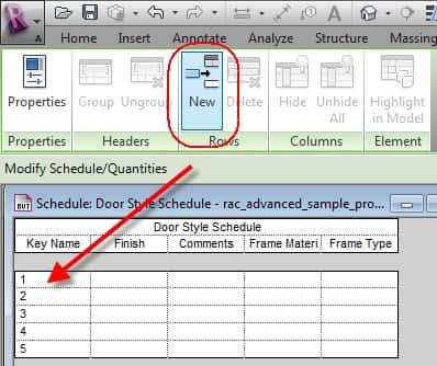 Creation of Key Schedules within Revit Models Ideate BIMLink - create schedule