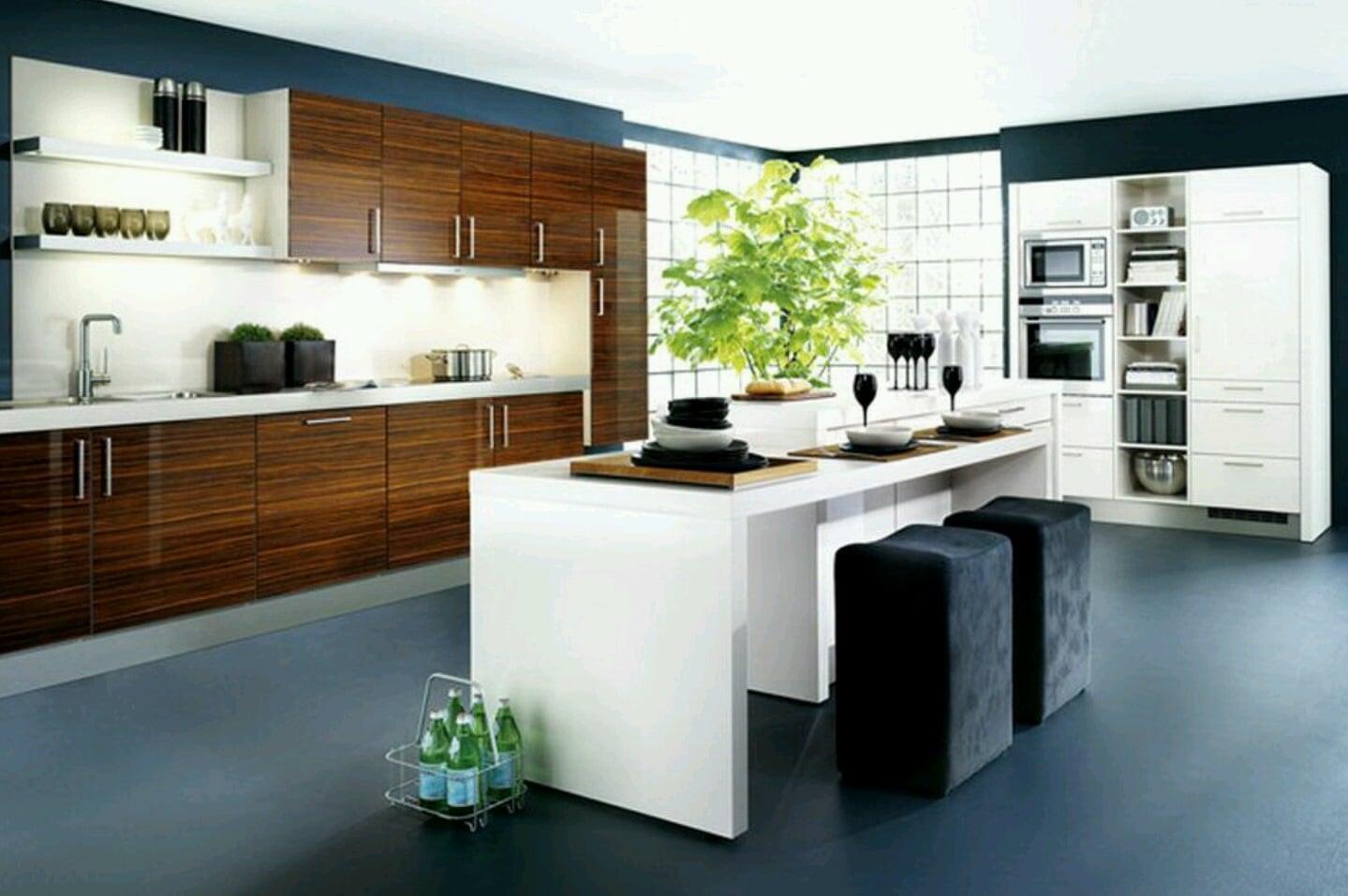 Cucina Moderna Con Isola Foto