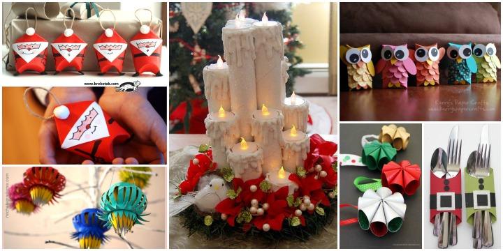 25 Fantastique Decoration De Noel En Rouleau De Papier