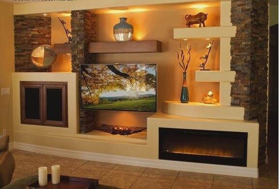semineu in living room modern