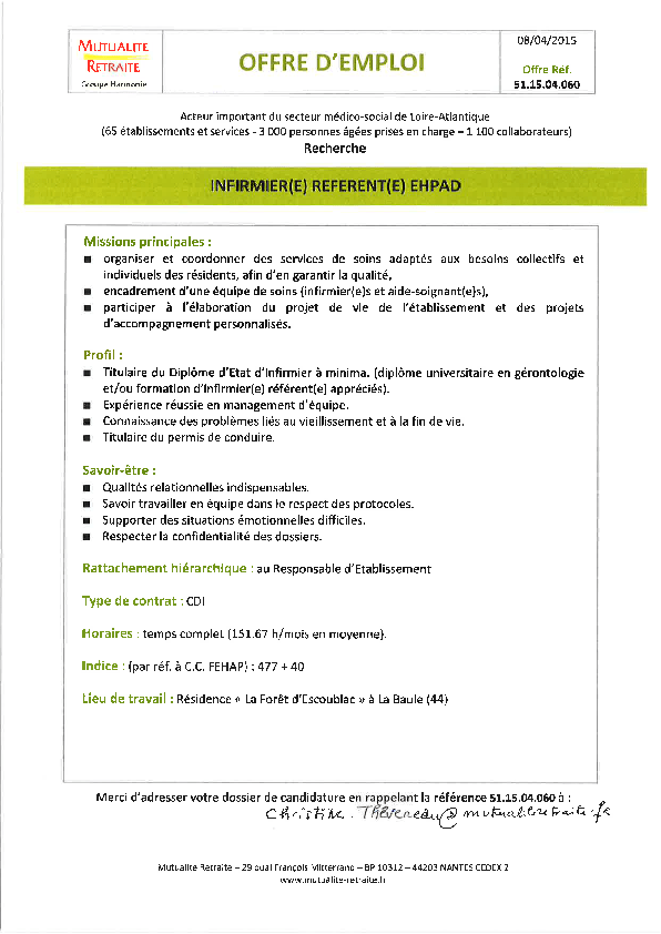 cv lettre de motivation association paris charge de projet cdd