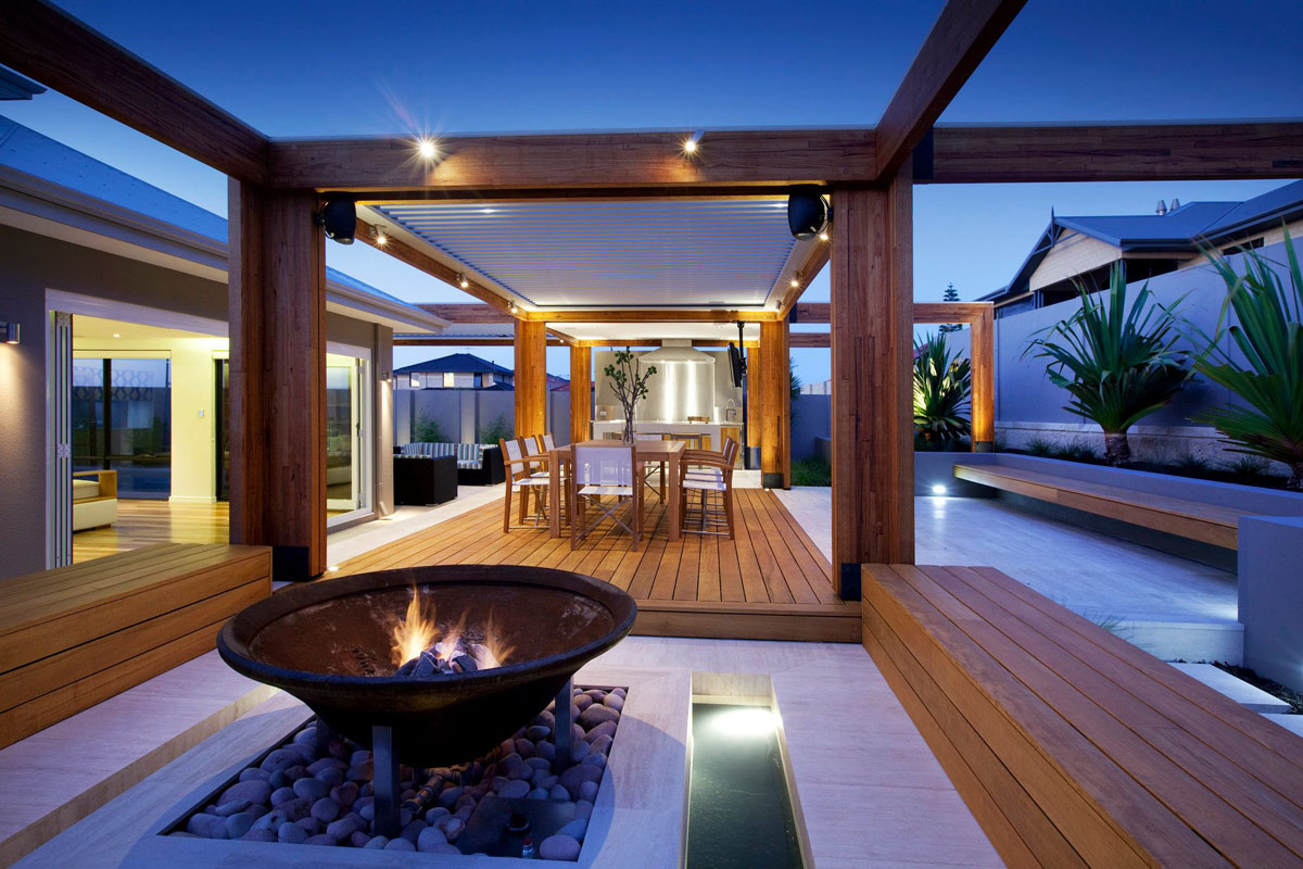 Outdoor Pool Table Australia Stylish Backyard With Teak Decking Idesignarch